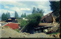 Big damage in Anchorage from the 1964 Alaska Earthquake.