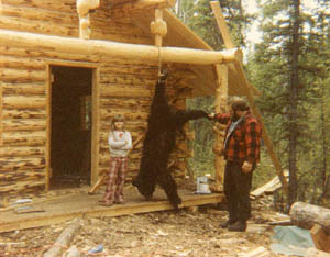 For an Alaskan family living in a tent this bear was good eating. & Alaska-WinterCabin - Tent in Tok