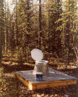Donna's outhouse featured in Alaskan book, Outhouses of Alaska.